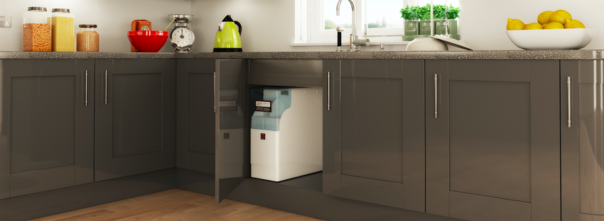 Harvey Water Softener - in kitchen