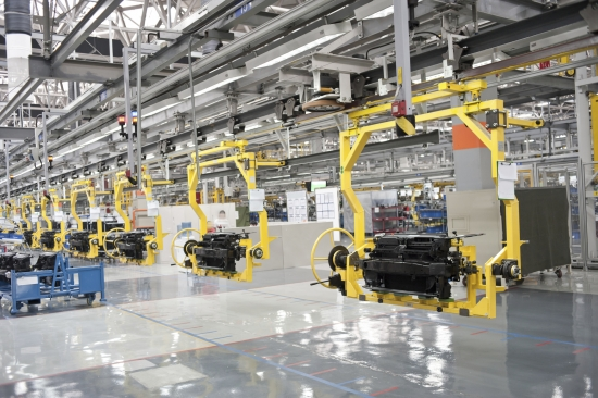 Modern car production lineModern car production line