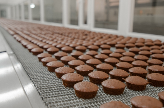 Brownie baking production plant